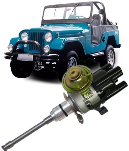 Distribuidor Ignicao Jeep 6cc F75 Rural Sensor Hall  Com Carburador