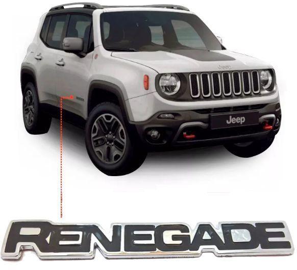 Emblema Nome Jeep Renegade Lateral Cromado Original Mopar