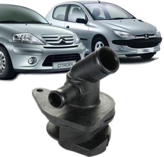 Flange Bomba DAgua Peugeot 206 e 207 Citroen C3 1.4 8v - 9627628980
