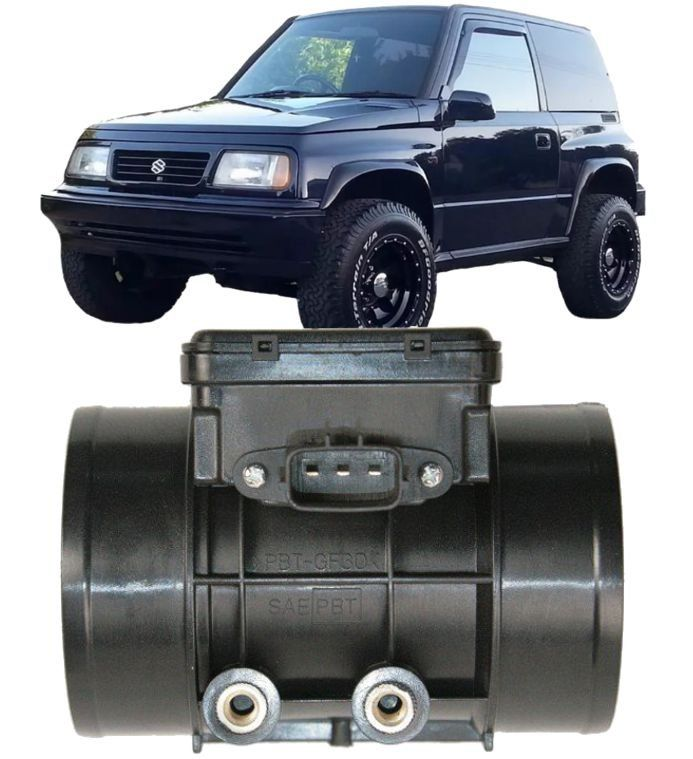 Fluxo de Ar Vitara Sidekick E Tracker 1.6 8V e 16V de 1991 a 2002 Gasolina