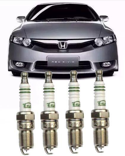 Jogo de Vela Ignicao Iridium New Civic 1.8 16v e Crv 2.0 de 2006 a 2011 - Izfr6k11