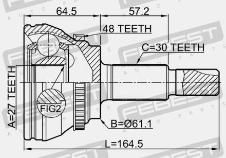 Junta Homocinetica Camry 2.0 2.2 16v E 3.0 V6 de 1991 A 2001 Com 27x30 Estrias