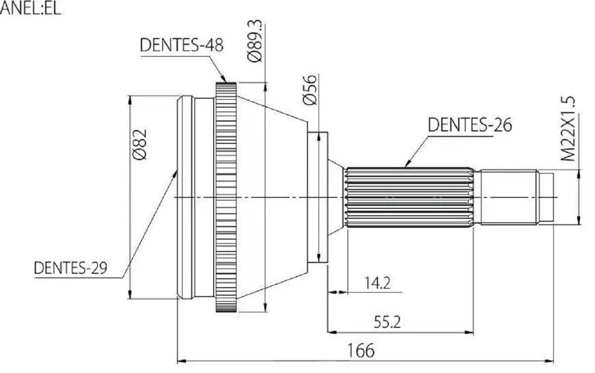 Junta Homocinetica Corolla 1.8 16v Manual De 1998 À 2002 - 29x26