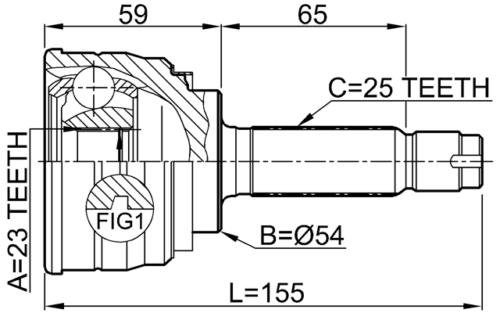 Junta Homocinetica Eclipse E Galant 2.0 16v Turbo Apos 1990 com 25X23 Estrias
