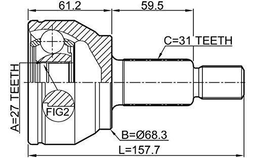 Junta Homocinetica Evoque 2.0 16V Turbo 2.2 Diesel Apos 2011