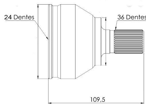 Junta Homocinetica Focus 2.0 16V Manual Apos 2009