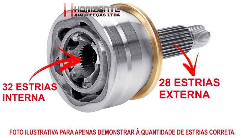 Junta Homocinética Fusion 2.3 e 2.5 Com Abs Par - 2005 a 2012