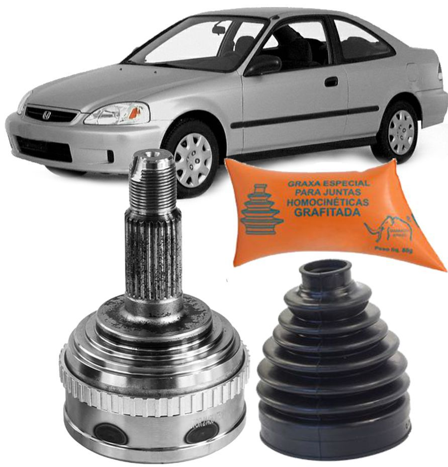 Junta Homocinetica Honda Civic Vtec 1.6 1996 A 2000 Com freio ABS 26X32X55