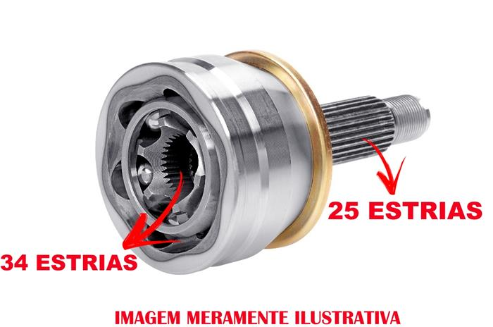 Junta Homocinetica Peugeot 207 1.6 e  306 1.8 2.0 16V Xantia 1.8 e 2.0 Com ABS - 34x25