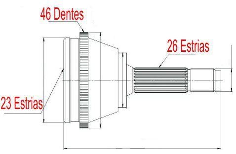 Junta Homocinetica Pt Cruiser 2.0 16V E 2.4 16V de 2001 à 2012 Com Abs