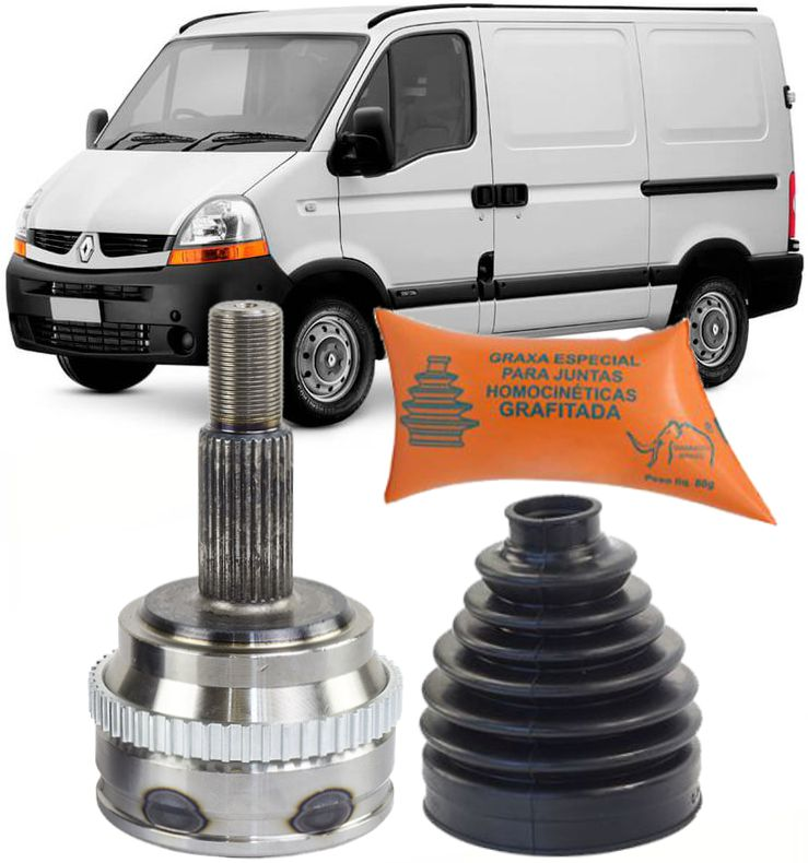 Junta Homocinetica Renault Master 2.8 E 2.5 16v Dci De 2003 A 2015 Com Freio Abs