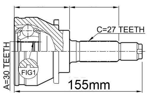 Junta Homocinetica Subaru Impreza E Legacy - 27x30