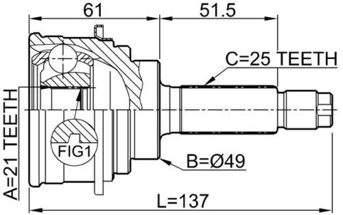 Junta Homocinetica Suzuki Baleno 1.6 16V  Manual de 1995 à 2000