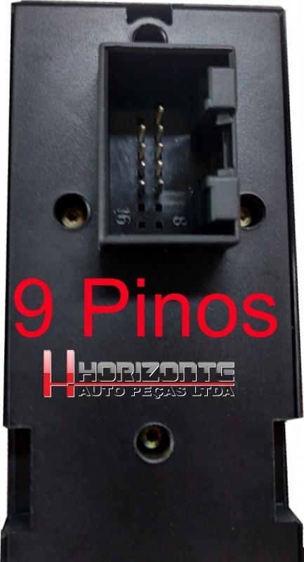 Kit com 10 Botoes Interruptor do Vidro Eletrico Golf Passat Bora Jetta