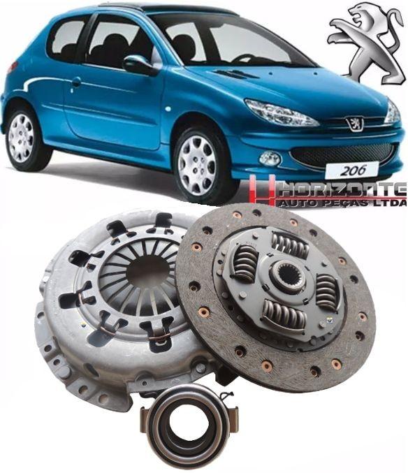 Kit De Embreagem Peugeot 206 1.0 8V e 16v apos 1999 e Peugeot 206 1.4 8v De 2004 A 2006