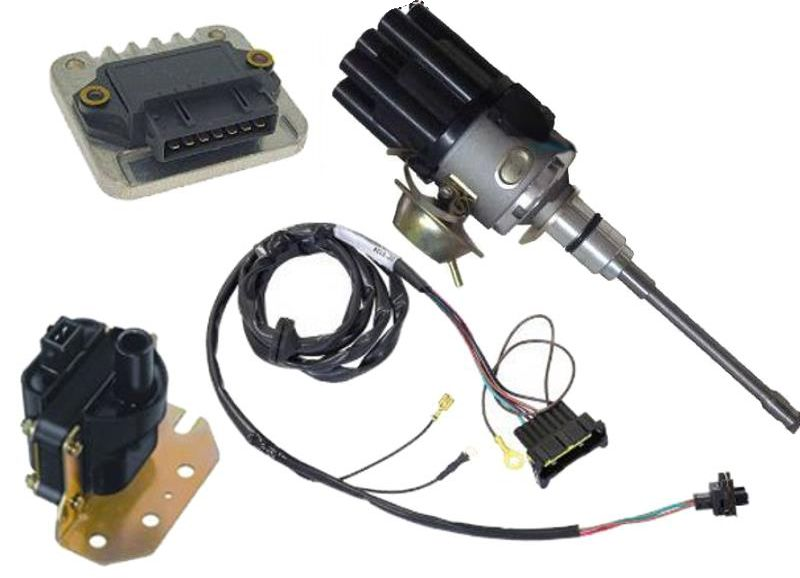 Kit de Ignicao Jeep 6cc F75 Rural Carburado Sensor Hall Completo