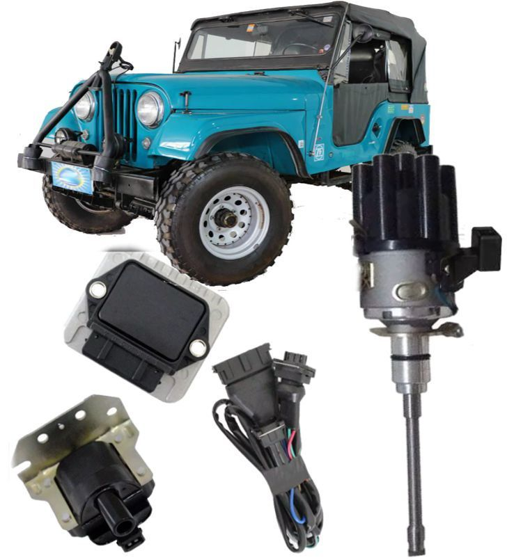 Kit de Ignicao Jeep 6cc F75 Rural Injecao Sensor Hall Completo