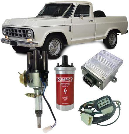 Kit Ignicao Eletronica Chevrolet Brasil C10 C14 C15 todos motor 6cc Novo
