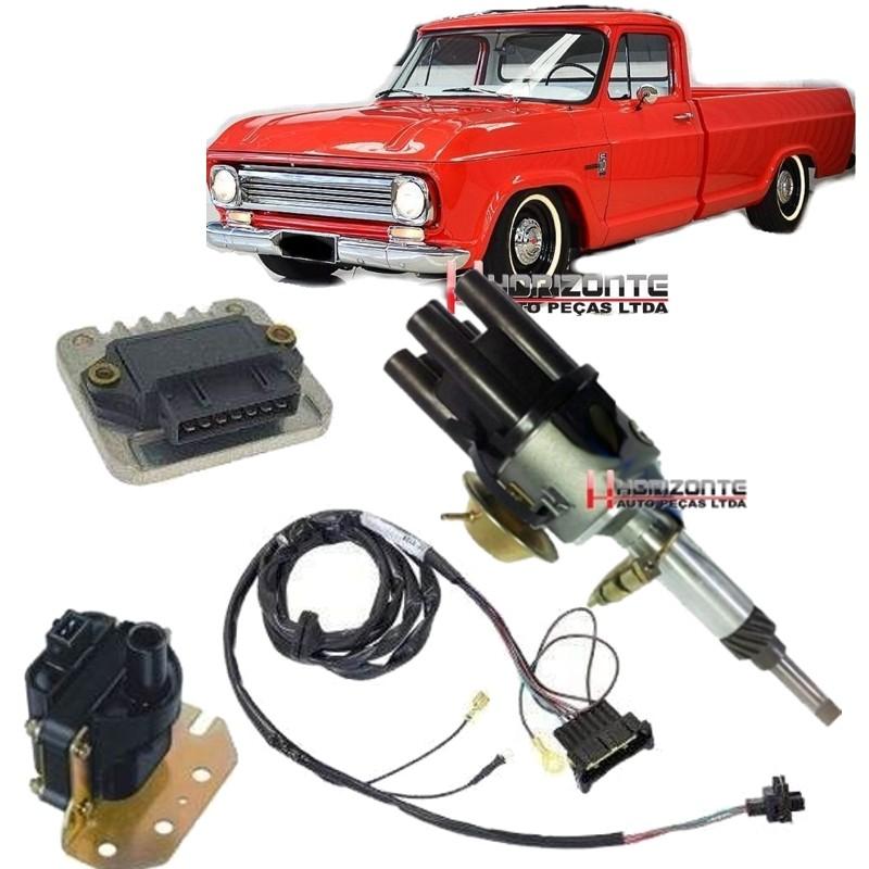 Kit Ignicao Eletronica Com Sensor Hall Chevrolet Brasil C10 C14 C15 todos motor 6cc Carburador Novo