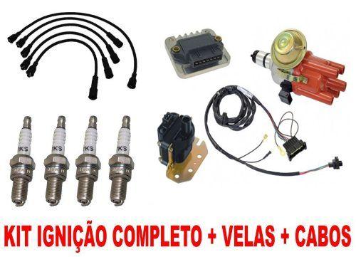 Kit Ignicao Eletronica Fusca Brasilia Kombi Hall 1300 E 1600 Novo  velas cabo de velas