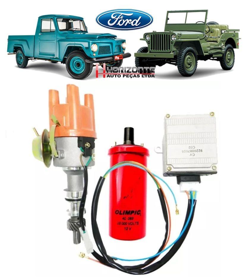 Kit Ignicao Eletronica Jeep F75 Maverick Rural 4cc Ohc Novo