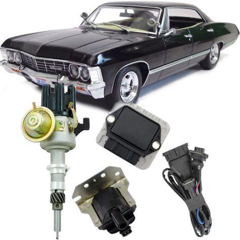 Kit Ignicao Eletronica Sensor Hall Chevrolet Impala Carburado Motor 6cc
