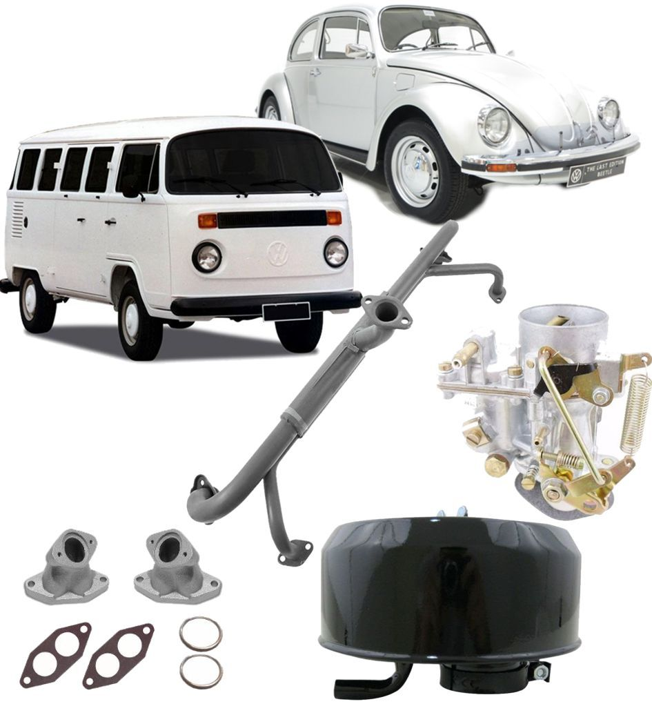 Kit Para Passar De Carburador Duplo Para Simples Fusca Kombi Novo