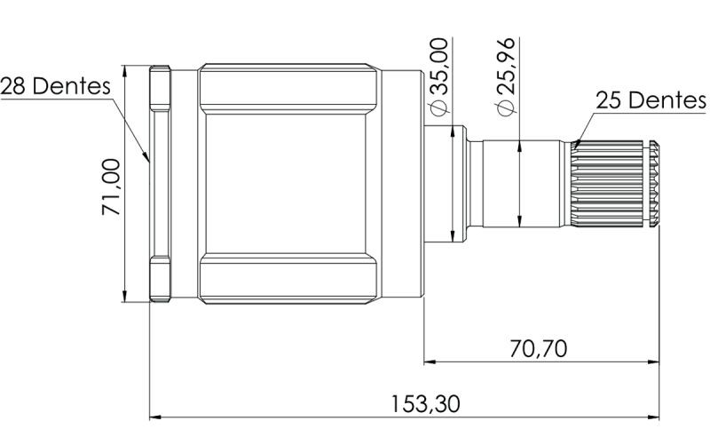 Kit Tulipa Trizeta E Coifa Honda Fit 1.4 8v Manual De 2003 À 2008 Ld Esquerdo