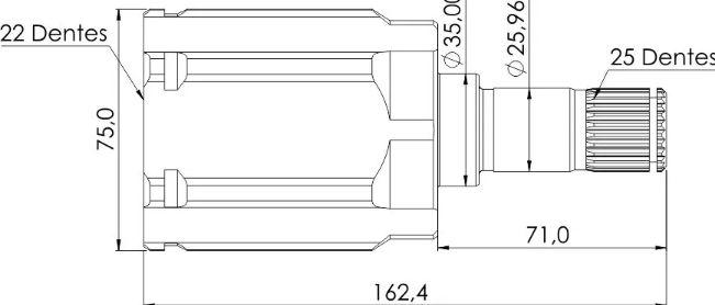Kit Tulipa Trizeta E Coifa Honda Fit E City 1.5 16v Manual De 2009 À 2014 - Direito / Esquerdo