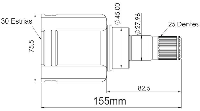 Kit Tulipa Trizeta E Coifa Lifan X60 1.8 16v Vvt De 2015 À 2021 - Ld Esquerdo