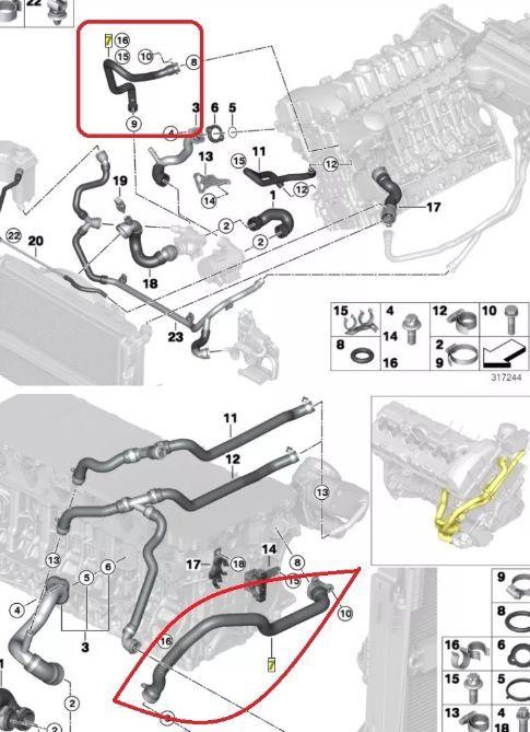 Mangueira Cabeçote N52 Bmw 128i 325i 328i 330i X1 - 11537545890