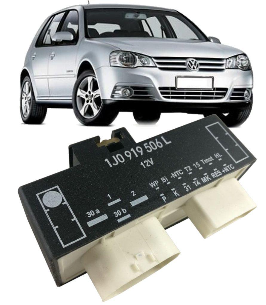 Modulo Rele Ventoinha Audi Golf 1.6 e 2.0 2007 a 2013 1j0919506L