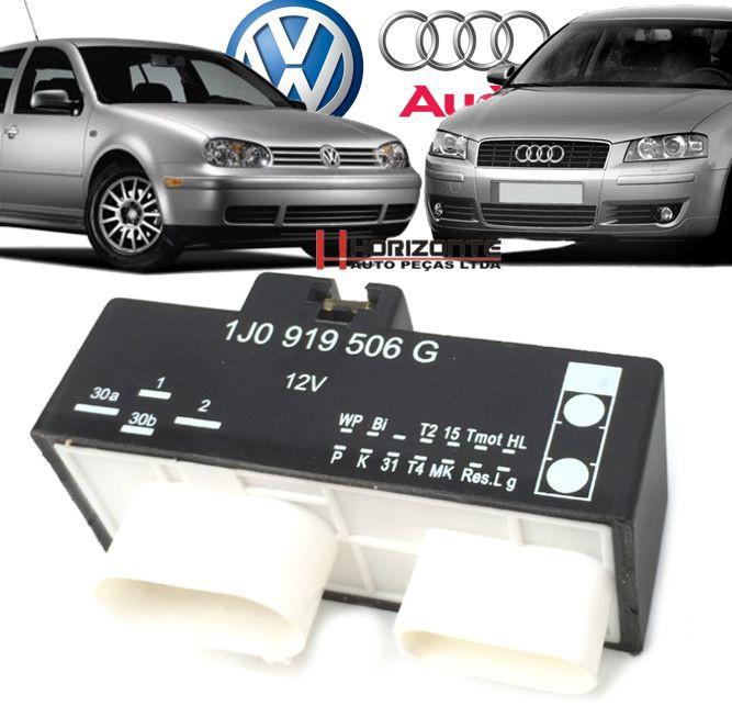 Modulo Rele Ventoinha Audi Sr 1.6 E Golf 1.6 Sr de 1999 a 2002 - 1j0919506g
