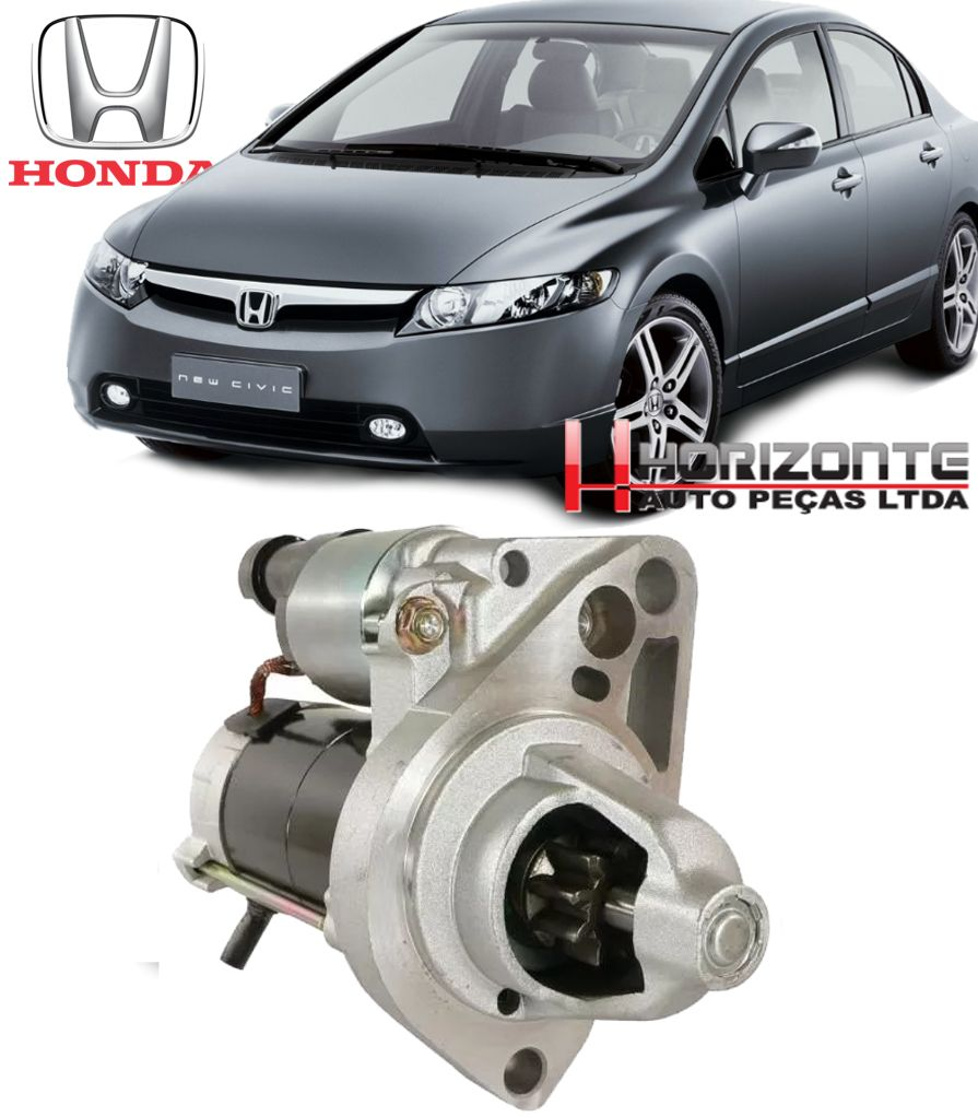Motor de Arranque Partida Honda New Civic 1.8 16v de 2006 à 2011