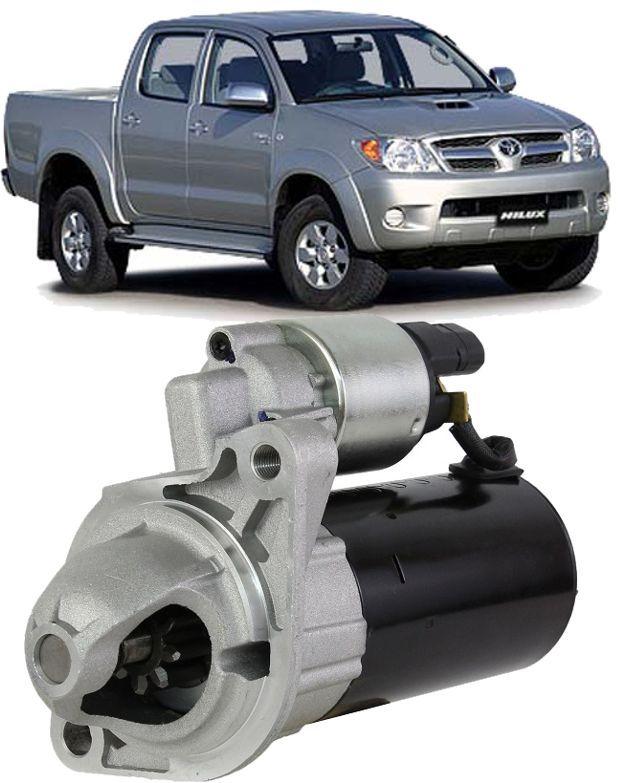 Motor de Arranque Partida Toyota Hilux 2.5 2.8 3.0 apos 2006 Pitbull