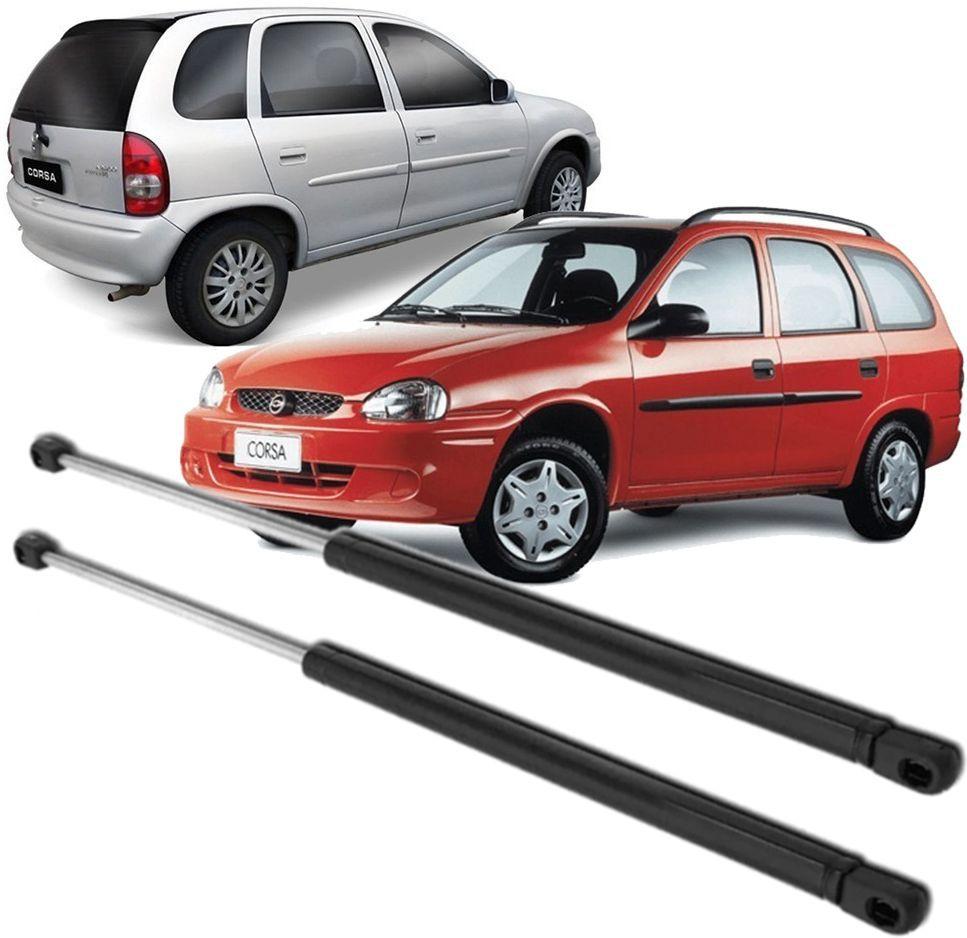 Par de Amortecedor da tampa traseira porta mala Corsa Hatch e Wagon 1994 à 2002