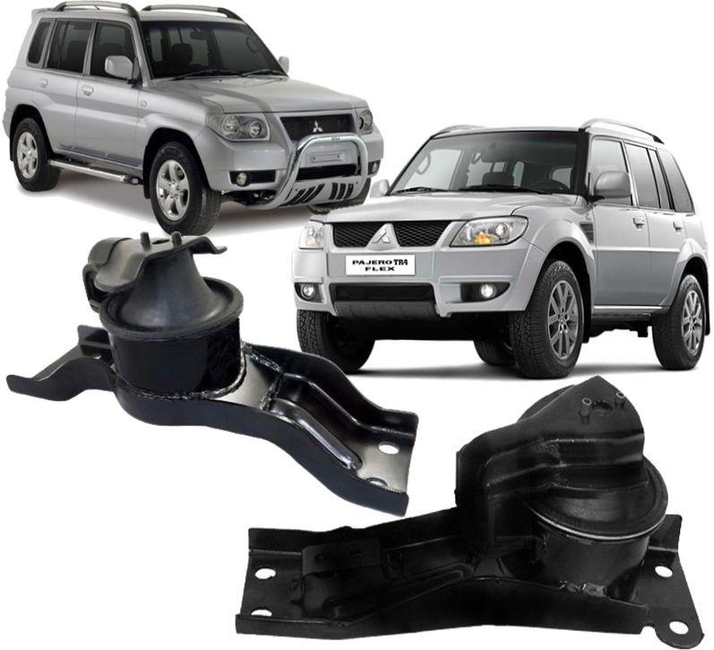 Par de Coxim Do Motor Hidraulico Pajero Tr4 2.0 16v de 2000 à 2015
