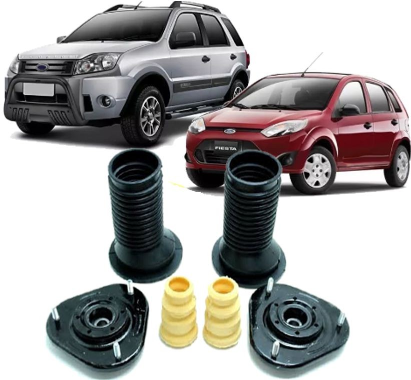 Par de Kit de Batente Dianteiro Fiesta e Ecosport de 2003 à 2012