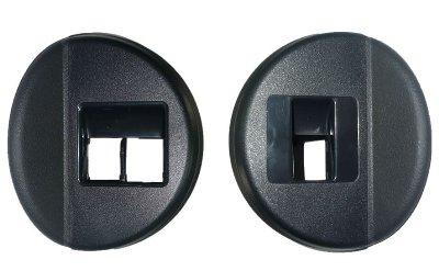 Par de moldura do botao do vidro eletrico da porta dianteira Gol Parati e Saveiro G4