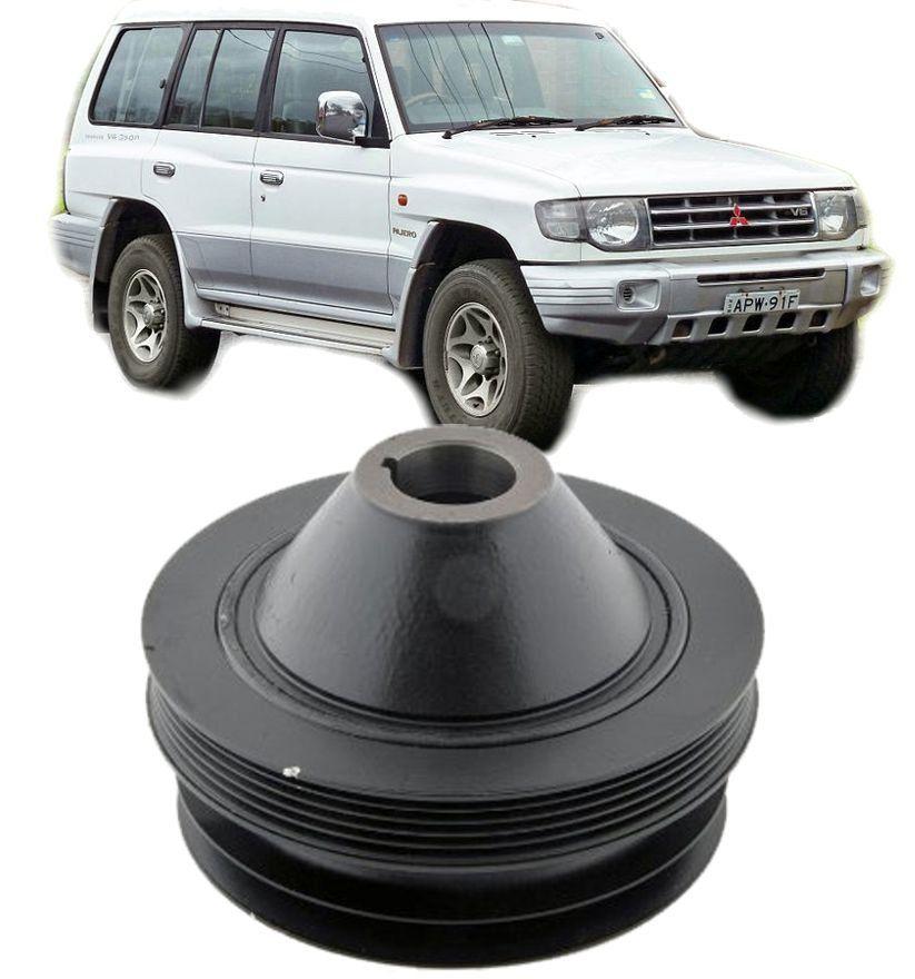 Polia do Virabrequim Mitsubishi Pajero 3.0 e 3.5 V6 de 1991 a 1998