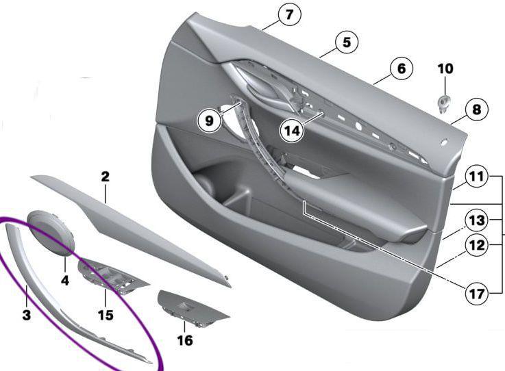 Puxador Porta Dianteira Esquerda Bmw X1 Sdrive 18i 20i 28i de 2009 À 2015 - Bege Caramelo