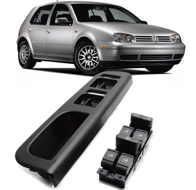 Puxador Porta Motorista Com Botao Vidro Eletrico Golf Passat Bora