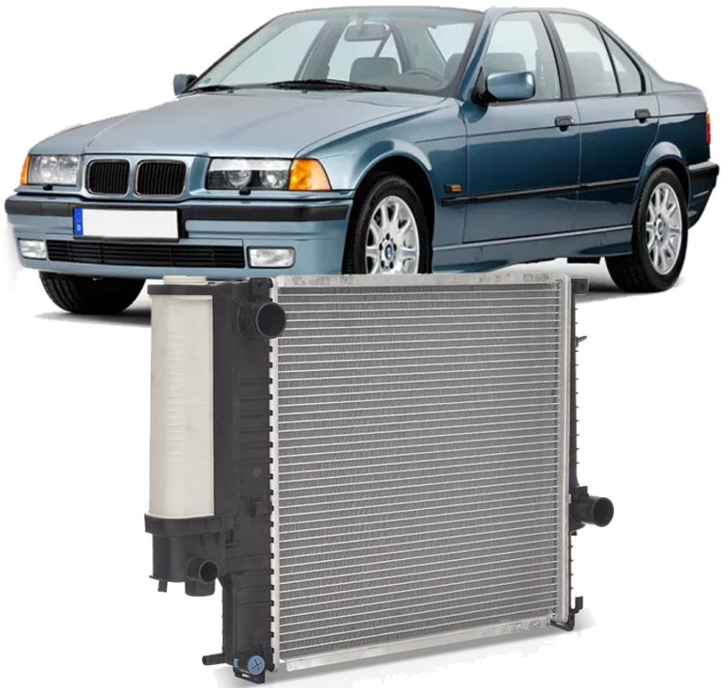 Radiador Bmw E36 325i 320i 328i 316i 318i De 1991 A 1999 E30 E36 Com Reservatorio