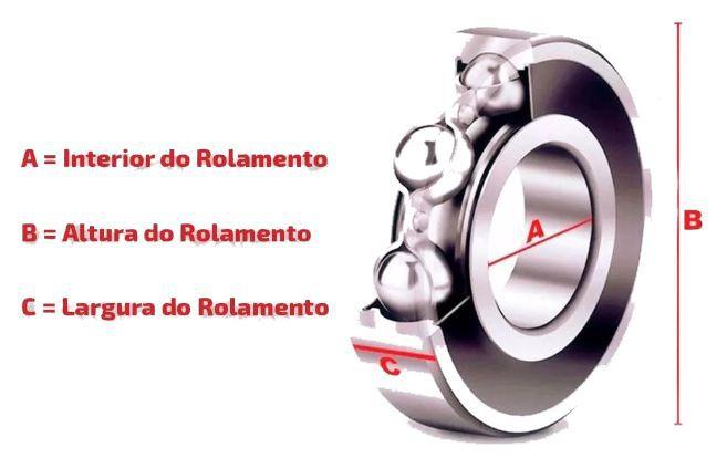 Rolamento de Roda Dianteira Fusion 2.3 2.5 e 3.0 de 2006 à 2012