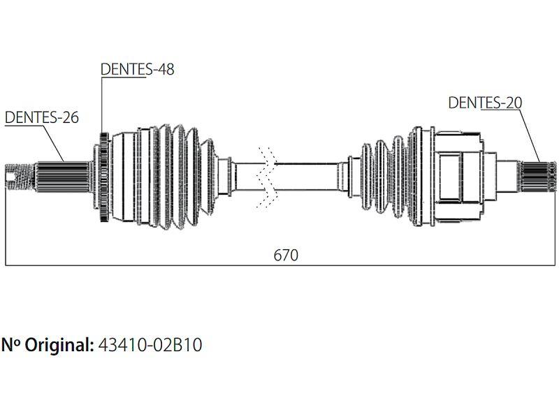 Semi Eixo Homocinetico Corolla 1.8 Gli 16v Flex AutomÁTico De 2015 À 2020 - Direito