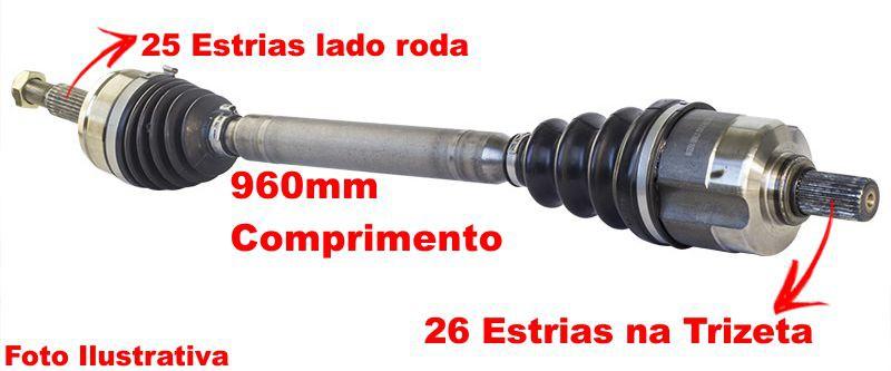 Semi Eixo Homocinetico Ecosport 2.0 16v 4x2 Cambio Manual Lado Direito
