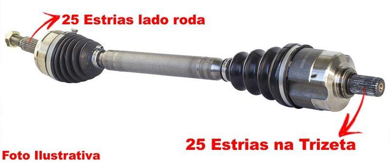 Semi Eixo Homocinetico Kia Cerato 1.6 e 2.0 Automático de 2009 à 2017 - Direito