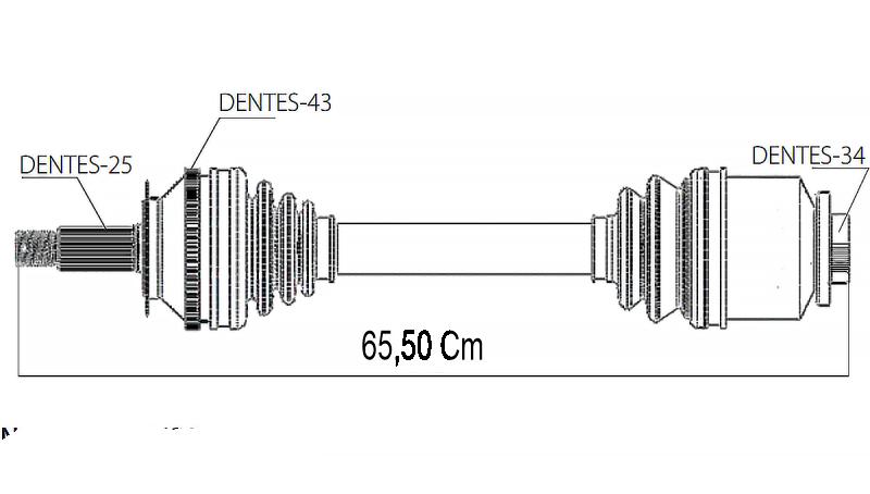 Semi Eixo Homocinetico Pajero Tr4 2.0 16v Câmbio Manual de 2002 à 2015 - Esquerdo