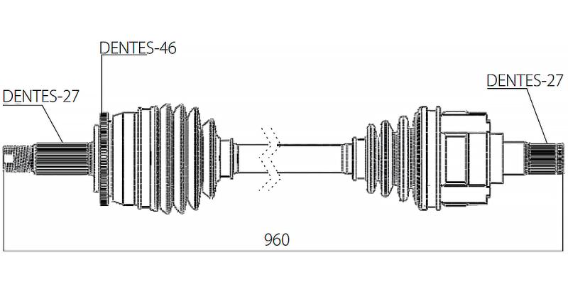 Semi Eixo Homocinetico Tucson I30 Sportage Manual Lado Direito