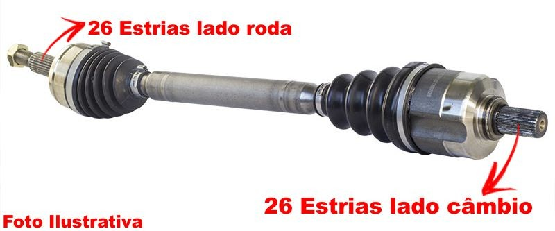 Semi Eixo Homocinetico Vitara e Tracker 2.0 Rhz Diesel de 2002 à 2004 - Direito